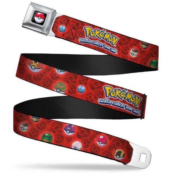 Pok Ball Full Color Black Pokmon Assorted Pok Balls Reds Webbing Seatbelt Belt