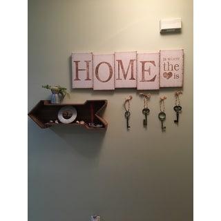 LeLay Rustic Wood Arrow Decorative Wall Shelf