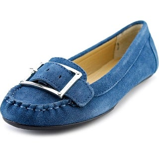 Marc Fisher Channary Women Round Toe Suede Flats