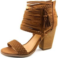 Not Rated Rosella Women  Open Toe Canvas Tan Sandals