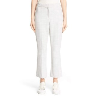 Theory NEW Gray Women's Size 10X26 Cropped Front-Tab Dress Pants