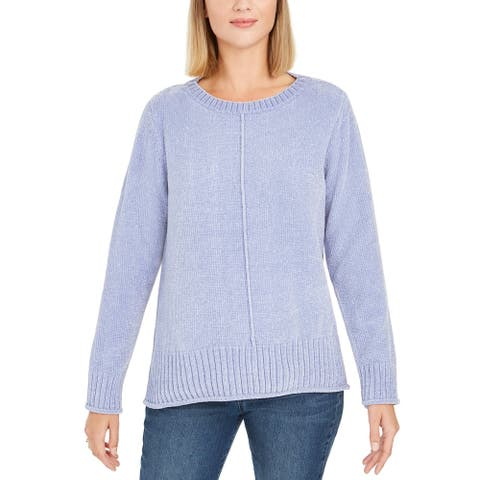 Style & Co Women's Chenille Pullover Sweater Violet Size Smal