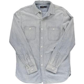 Polo Ralph Lauren Mens Chambray 2-Pocket Button-Down Shirt - M