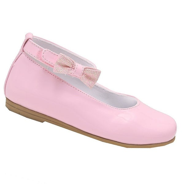 Shop Rachel Shoes Little Girls Pink Patent Bow Ankle Strap Dress Shoes - Free  Shipping On Orders Over  45 - Overstock - 23082914 2ee96bbaa6a8