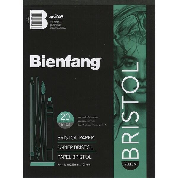"Bienfang Bristol Board Vellum Paper Pad 9""X12""-20 Sheets"
