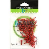 Red - Eyelet Outlet Round Brads 4Mm 70/Pkg