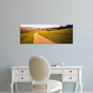 Easy Art Prints Panoramic Images's 'Road passing through a rolling landscape, Baden