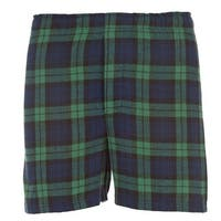 Boxercraft Men's Cotton Flannel Plaid Boxer Sleep Shorts