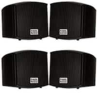 Acoustic Audio AA321B Indoor Mount Black Speakers 800W 2 Pair Pack AA321B-2Pr