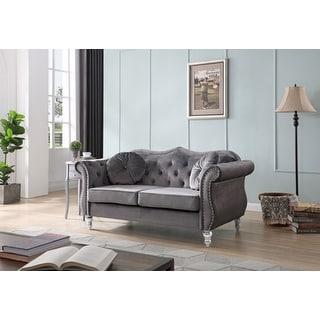 Link to Hollywood Velvet Loveseat Similar Items in Living Room Furniture