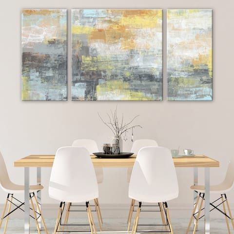 3 PC This Light of Mine Abstract 30 x 60 Triptych Wall Art by Norman Wyatt Home