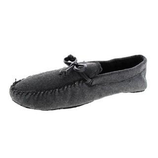 Zara Mens Canvas Slip On Moccasin Slippers