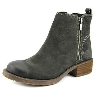Lucky Brand Darbie Women Round Toe Leather Black Bootie