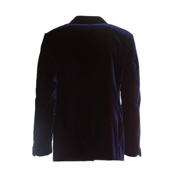 how to buy quality and quantity assured best price Shop Tom Ford Mens Blue Velvet Peak Lapel Shelton Cocktail ...