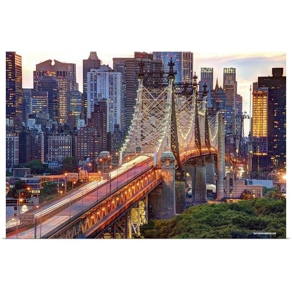 """59th Street Bridge, Manhattan, New York City"" Poster Print"