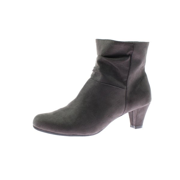 Aerosoles Womens Shore Fit Ankle Boots Slouchy Faux Suede