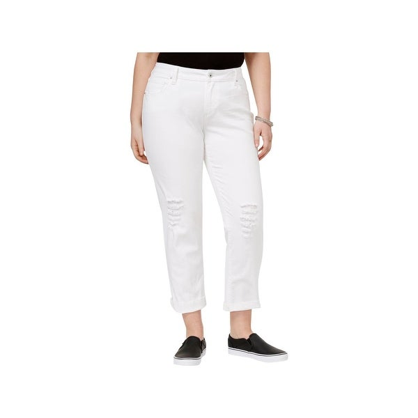 ff528e3e7aa Shop Lucky Brand Womens Plus Reese Boyfriend Jeans Denim Destroyed - Free  Shipping On Orders Over  45 - Overstock.com - 20860215