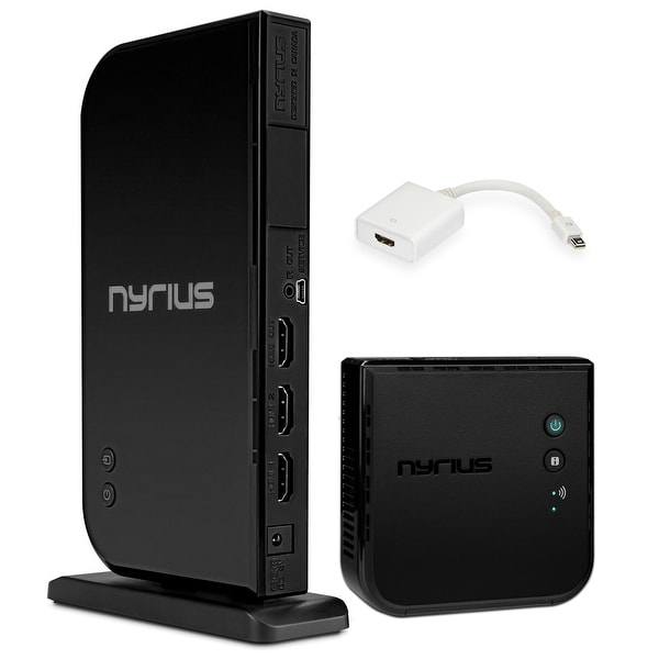 Nyrius ARIES Home+ Wireless HDMI 2x Input Transmitter & Receiver for Streaming HD 1080p 3D Video and Digital Audio