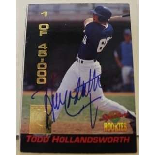 Todd Hollandsworth Los Angeles Dodgers Autographed 1994 Signature Rookies Card 14 This item comes w