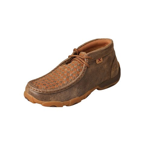 Twisted X Casual Shoes Boys Driving Mocs Lace Up Bomber Tan
