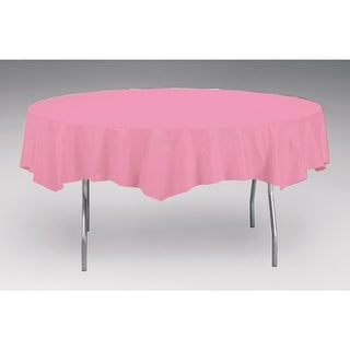 Touch Of Color Octy- Round Plastic Tablecover Candy Pink