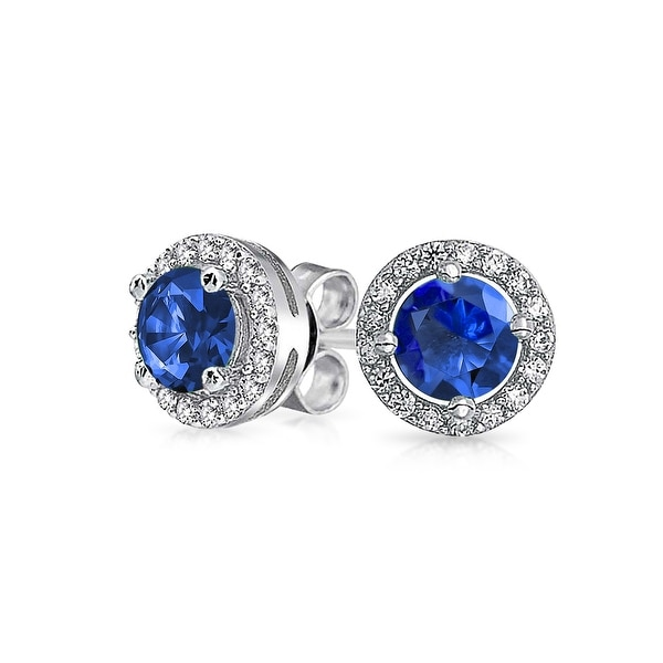2 Ct Simulated Green Sapphire /& Diamond Round Stud Earrings .925 Sterling Silver