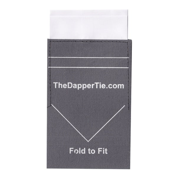 TheDapperTie - Men's Solid Flat Double Toned Pre Folded Pocket Square on Card - regular
