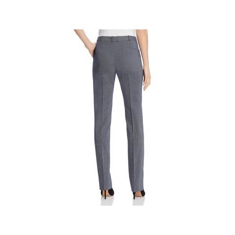 Hugo Boss Womens Dress Pants Suiting Microcheck