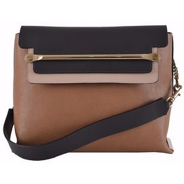 CHLOÉ Savanna Tan Colorblock Calf Leather Clare Purse Shoulder Bag