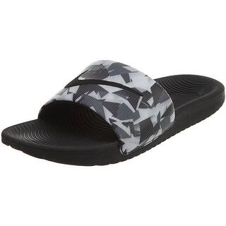 Nike Men's Kawa Slide Print, DARK GREY/WHITE-BLACK, 8 M US - dark grey/white-black|https://ak1.ostkcdn.com/images/products/is/images/direct/f1514e6723fb198c3aaeca63255fa7df30e135ce/Nike-Men%27s-Kawa-Slide-Print%2C-DARK-GREY-WHITE-BLACK%2C-8-M-US.jpg?impolicy=medium