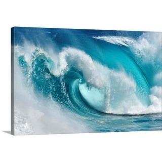 """""""When the ocean turns into blue fire"""" Canvas Wall Art"""