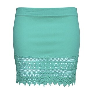 Gravity Threads Crochet Hem Bottom Lace Skirt