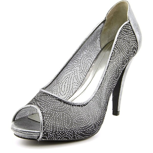 Style & Co Naveah Women Peep-Toe Synthetic Silver Heels