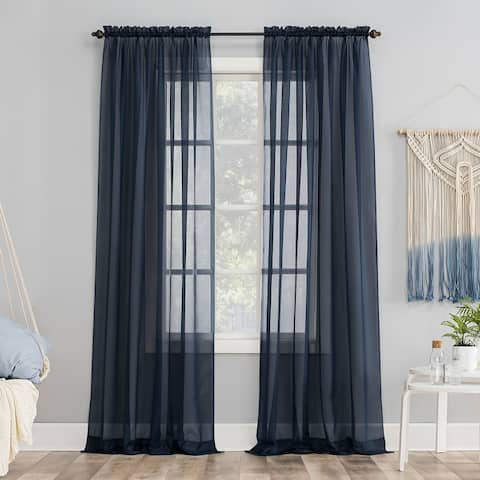 No. 918 Emily Voile Sheer Rod Pocket Curtain Panel