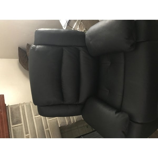 Astonishing Classic Oversize And Overstuffed Real Leather Sofa Loveseat And Single Chair Recliners Interior Design Ideas Skatsoteloinfo