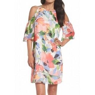 Maggy London NEW Pink Womens Size 8 Floral-Print Chiffon Sheath Dress