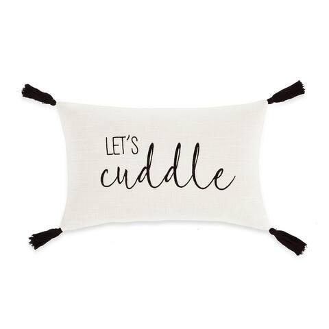 Lush Decor Let's Cuddle Script Decorative Pillow Cover