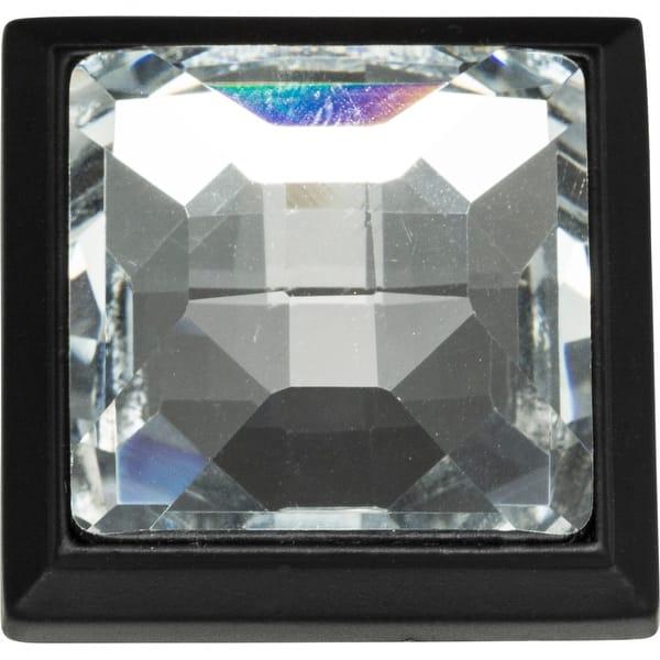 """Atlas Homewares 340 Nickel Crystal 1-5//16/"""" Square Cabinet Knob"""