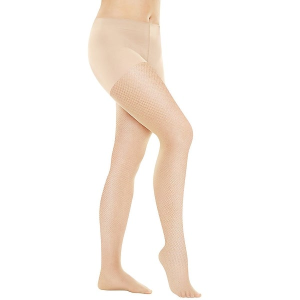 d04a5fb244ffc Hanes Perfect Nudes™ Sheer Micro Net Girl Short Tummy Control Hosiery -  Size - M