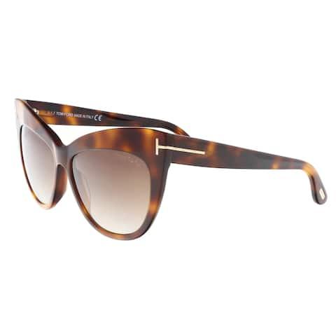 6637c63320b97 Tom Ford FT0523 S 53F NIKA Medium Havana Cat Eye Sunglasses - 56-14