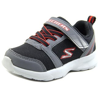 Skechers Skech Stepz Power Jump Toddler W Round Toe Canvas Black Sneakers