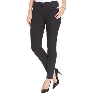 DKNY Jeans Womens Ave B Skinny Jeans Coated Zip Pockets - 6