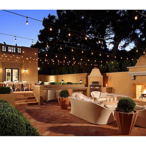 50ft Connectable String Lights with 15 E26 Sockets and 16 LED Bulbs - LED-15 sockets