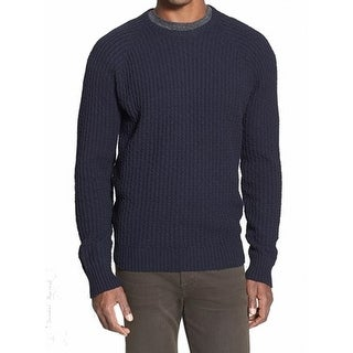 Grayers NEW Blue Navy Mens Size 2XL Crewneck Modern Cable Knit Sweater