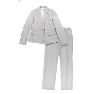 Le Suit Womens The Hamptons Striped 2PC Pant Suit
