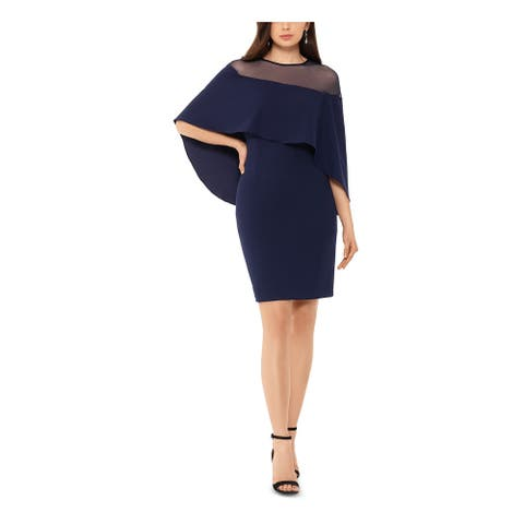 BETSY & ADAM Navy Above The Knee Dress 4