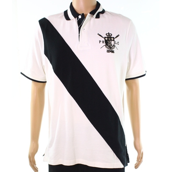 22d9b833 Shop Polo Ralph Lauren White Mens 2XL Stripe Polo Classic Fit Shirt - Free  Shipping Today - Overstock - 28229100