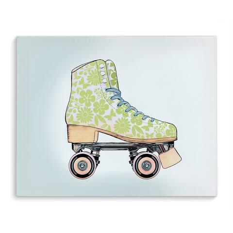 SPRING SKATE Canvas Art By Jen Jones