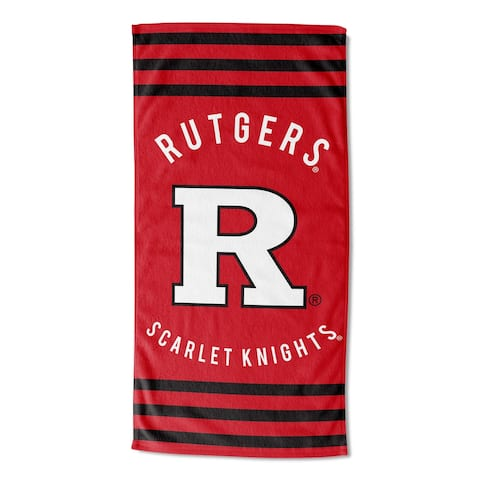 COL 620 Rutgers Stripes Beach Towel - 30X60