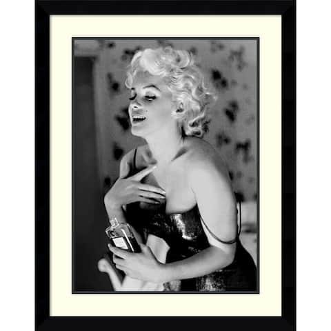 Framed Art Print 'Marilyn Monroe, Chanel No. 5' by Ed Feingersh 29 x 36-inch